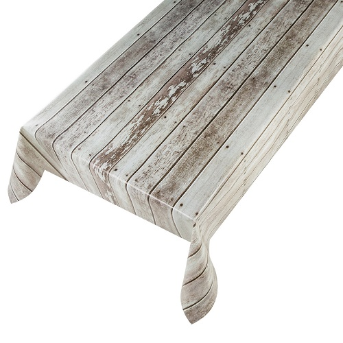 "WACHSTUCH in 1,4m Br. ""Wood Stan"" (Meterware) PVC Outdoor-Tischdecke"