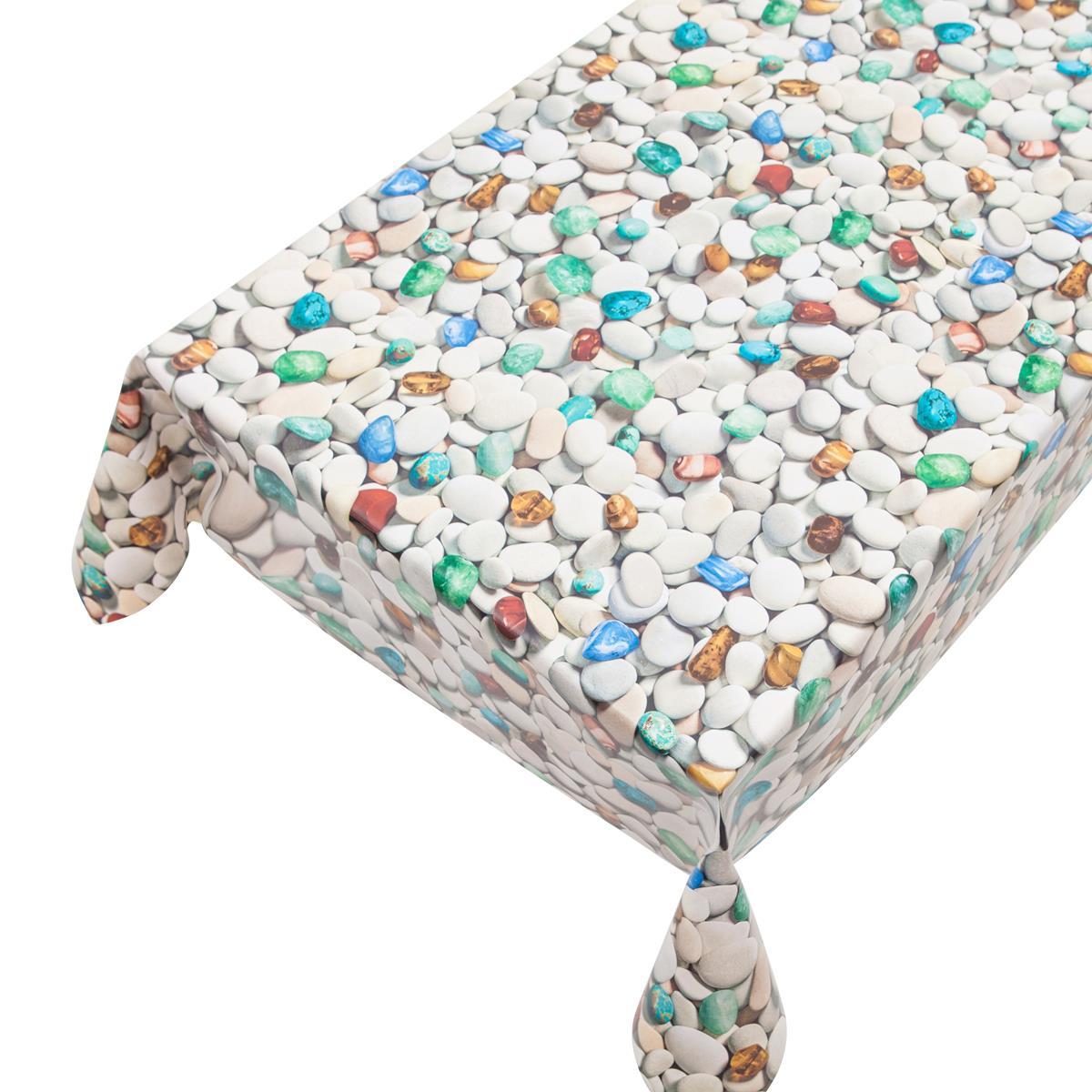 wachstuch in 1 4m br stones 2 meterware pvc outdoor tischdecke ebay. Black Bedroom Furniture Sets. Home Design Ideas