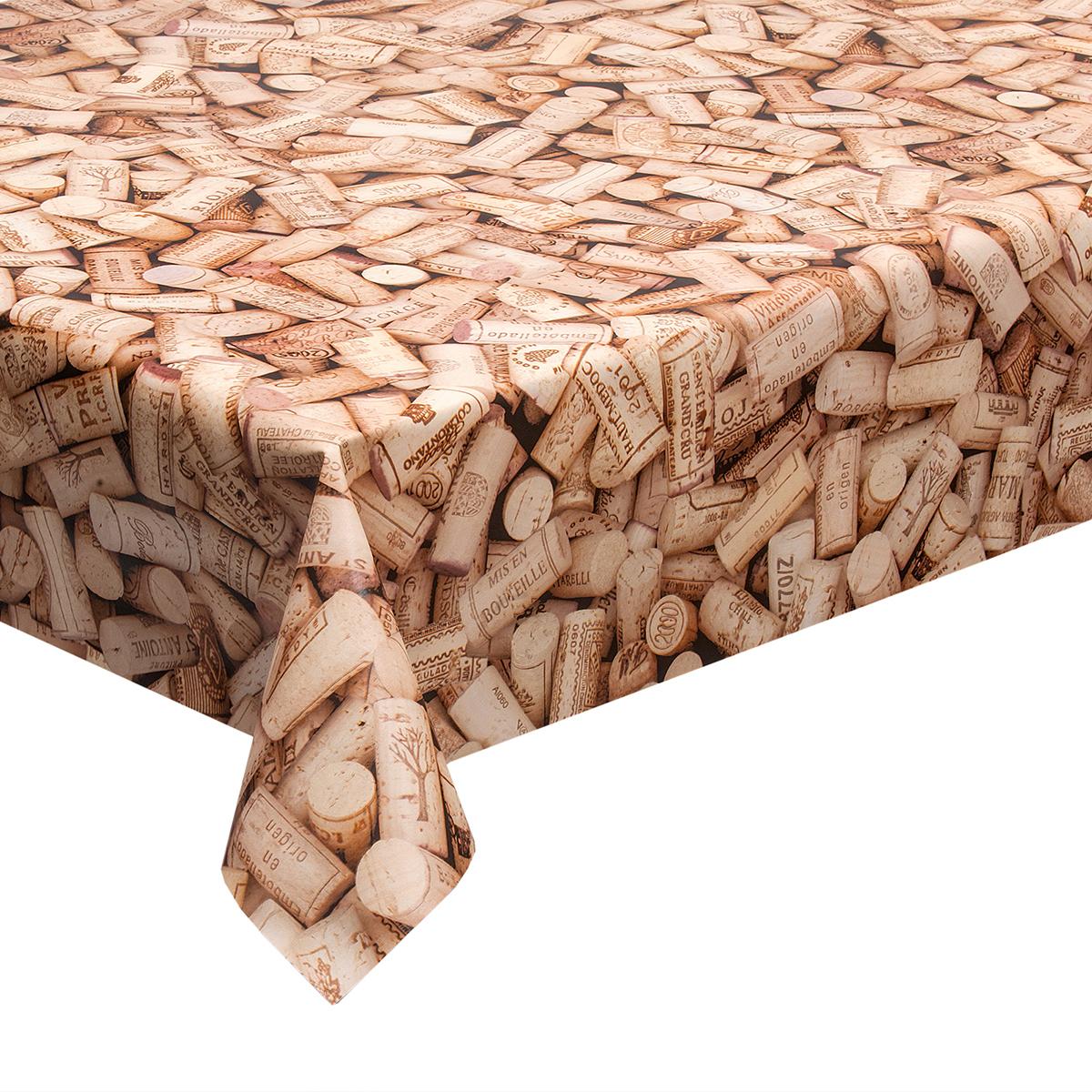 Hule en 1 4m ancho tapones de corcho mantel cubre mesa - Hule por metros ...