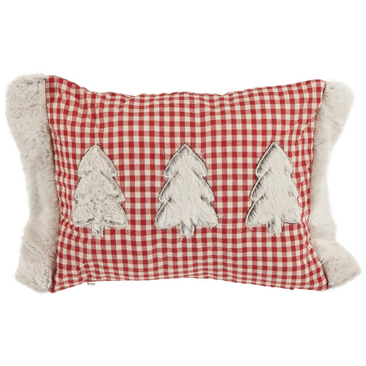 Wohnideen Weihnachtsdeko indoor kissen finn rot 24cmx32cm kopfkissen sofakissen weihnachtsdeko