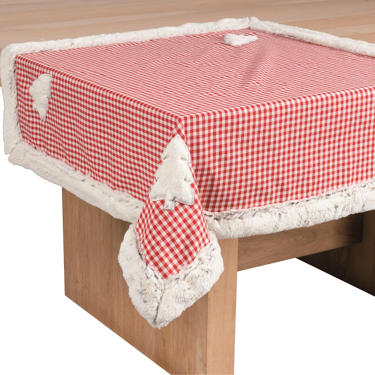 Wohnideen Weihnachtsdeko tischdecke finn rot 85cmx85cm tischtuch tischläufer weihnachtsdeko
