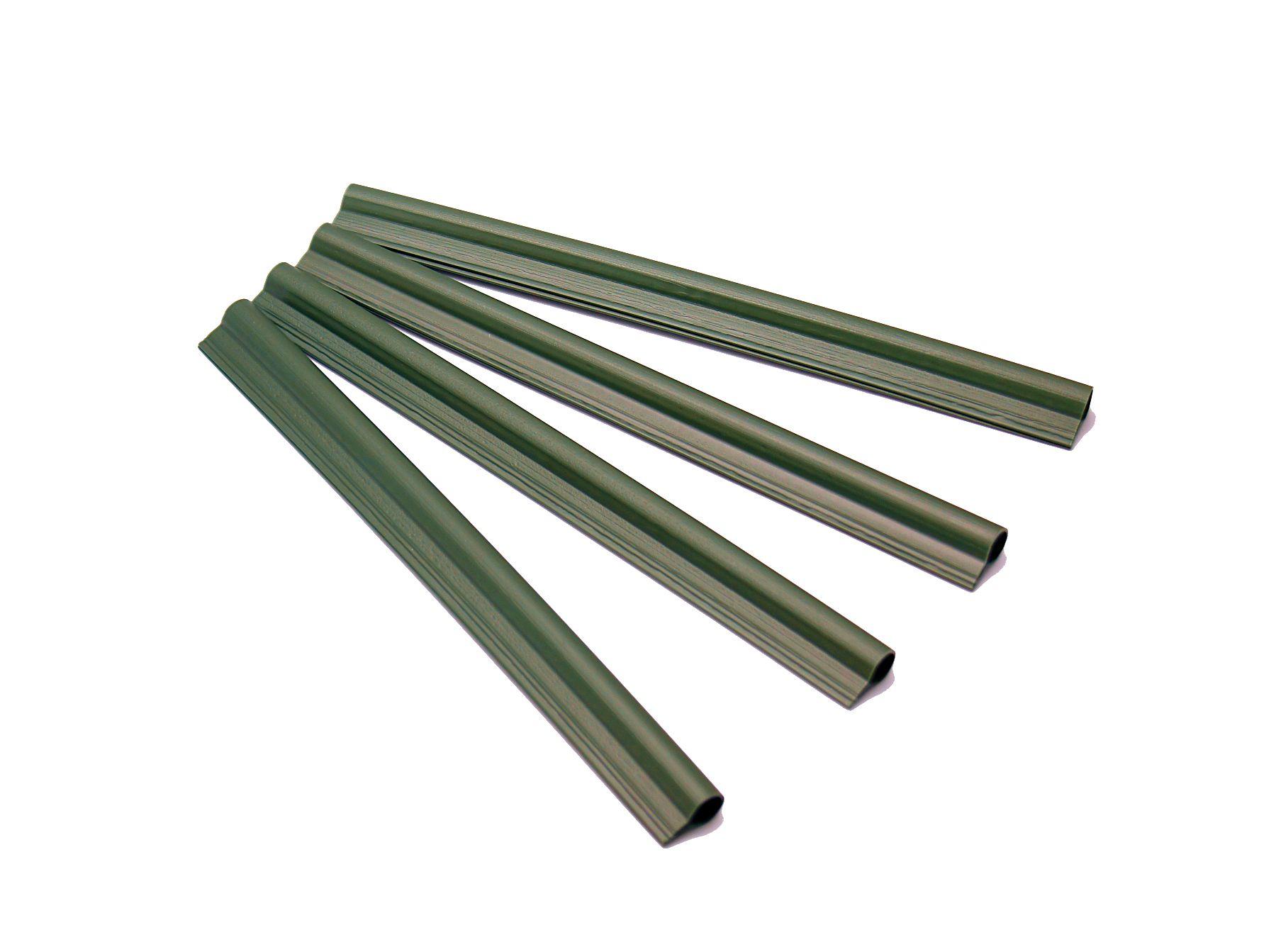 50 Stück Klemmschienen in grün Abschlussleiste für PE-Sichtschutzstreifen